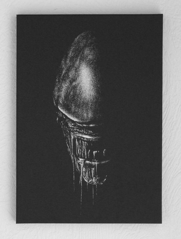 Alien - Hand engraving metal