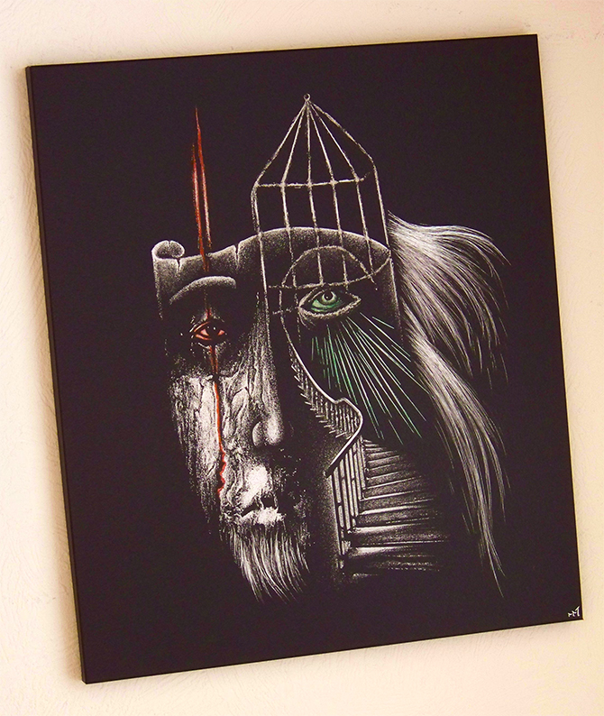 Badru - engraving image
