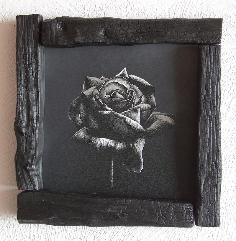 Róża - grawerka