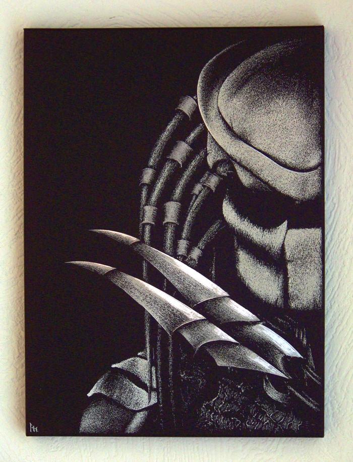 Predator - Hand engraving metal