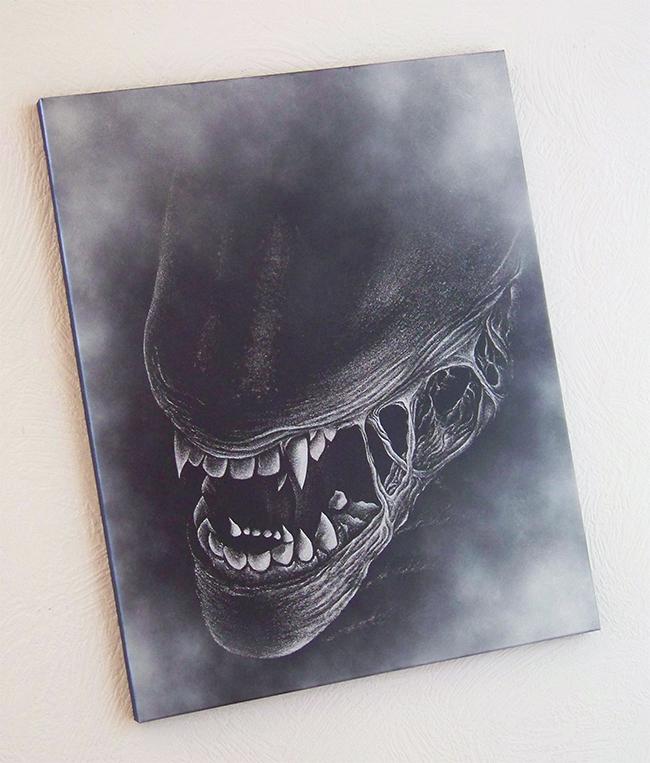 Alien - engraving metal